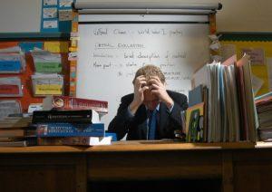 stressed teacher btpa